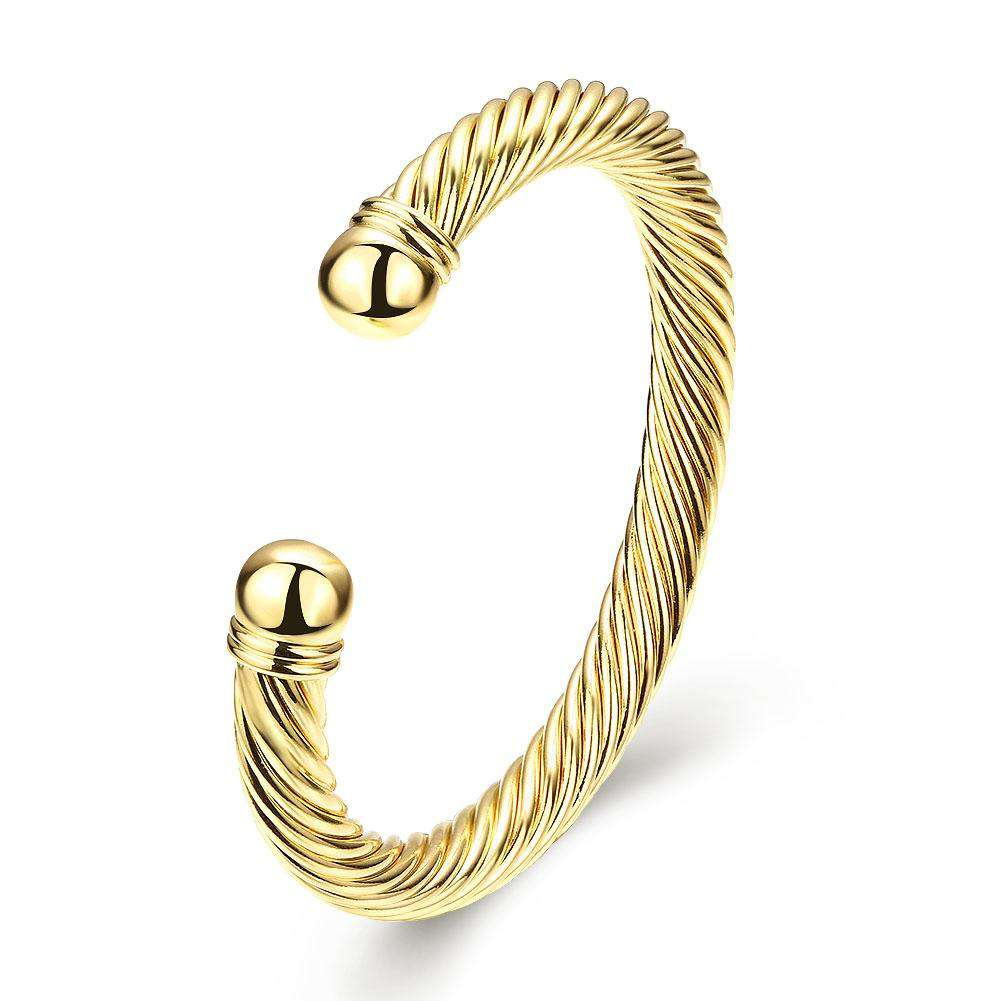 K Gold European and American Simple Popular Opening Lady Bracelet
