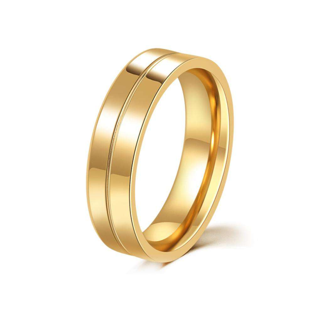 Men's Steel Lovers Gold-Plated Rings 01191 Personality Gifts Jewelry