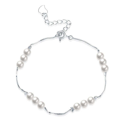 925 Pure Silver Exquisite Small Pearl Bracelet - 24/7 bestdeals