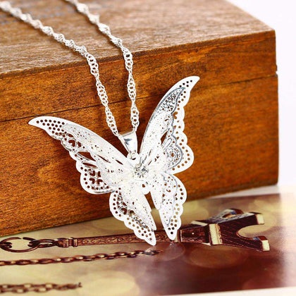 Fashion Lovely Butterfly Pendant Necklace Wing - 24/7 bestdeals