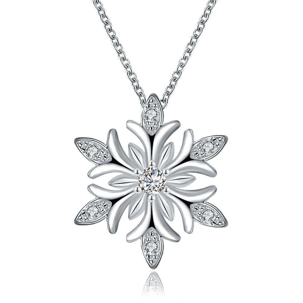 Snow and Zircon Christmas Necklace