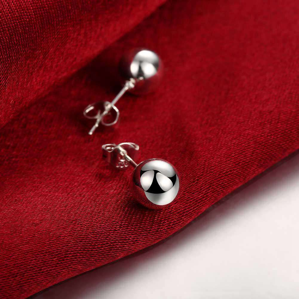 Buddhist Bead Ear Ring Ball Silver Ornament Simple Ear Nail - 24/7 bestdeals