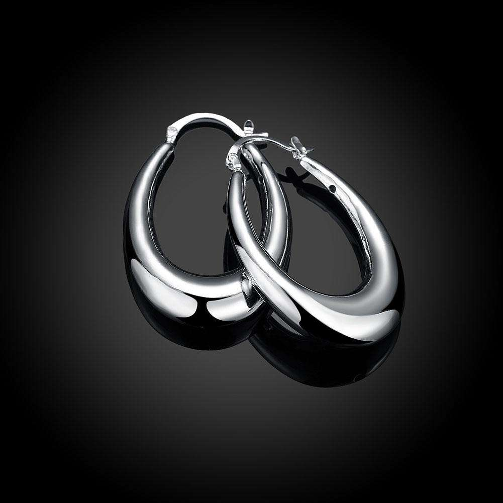 Empty Three-Dimensional U Earrings Fashion Drop Silver Earrings