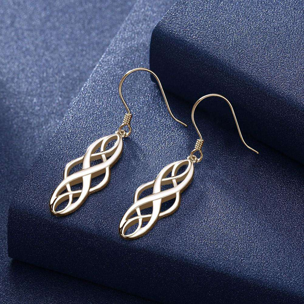 PTE S925  2 Color Electroplating Simple Twisted Geometric Shape Earhook