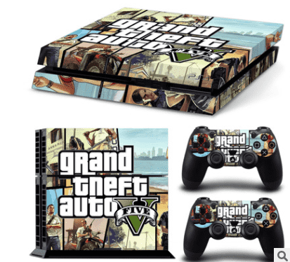 PS4 sticker factory direct selling PS4 color sticker GTA V a distribution map customization