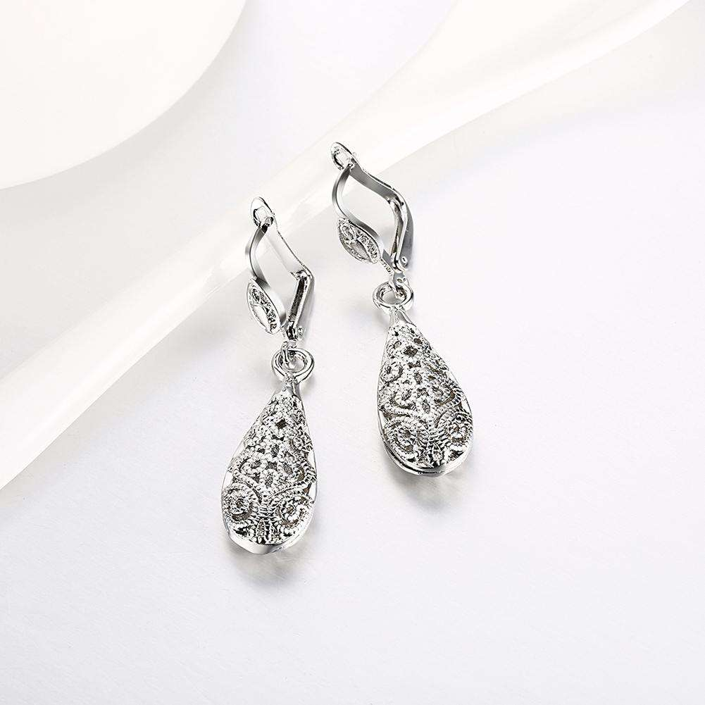 Eco-Friendly Platinum Drop Earrings