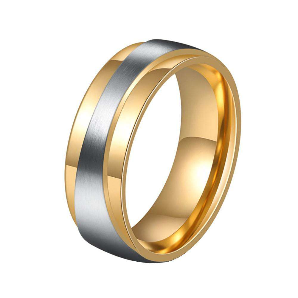 Men's Steel Lovers Gold-Plated Rings 01171 Personality Gifts Jewelry