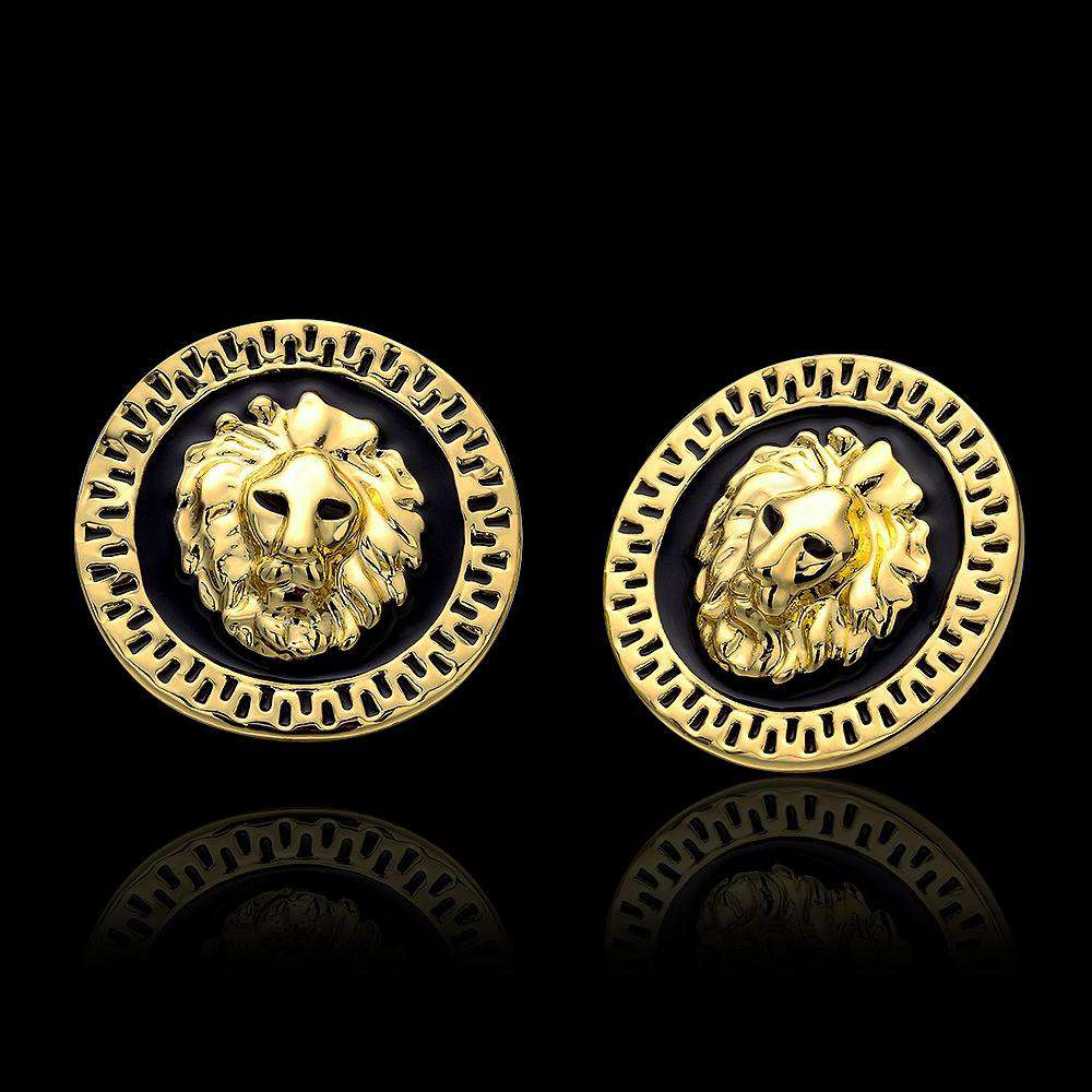 Gold Plated Lion Earrings