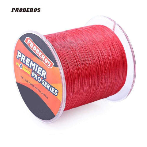PROBEROS 500M Durable Colorful PE 4 Strands Monofilament Braided Fishing Line Angling Accessory - 24/7 bestdeals
