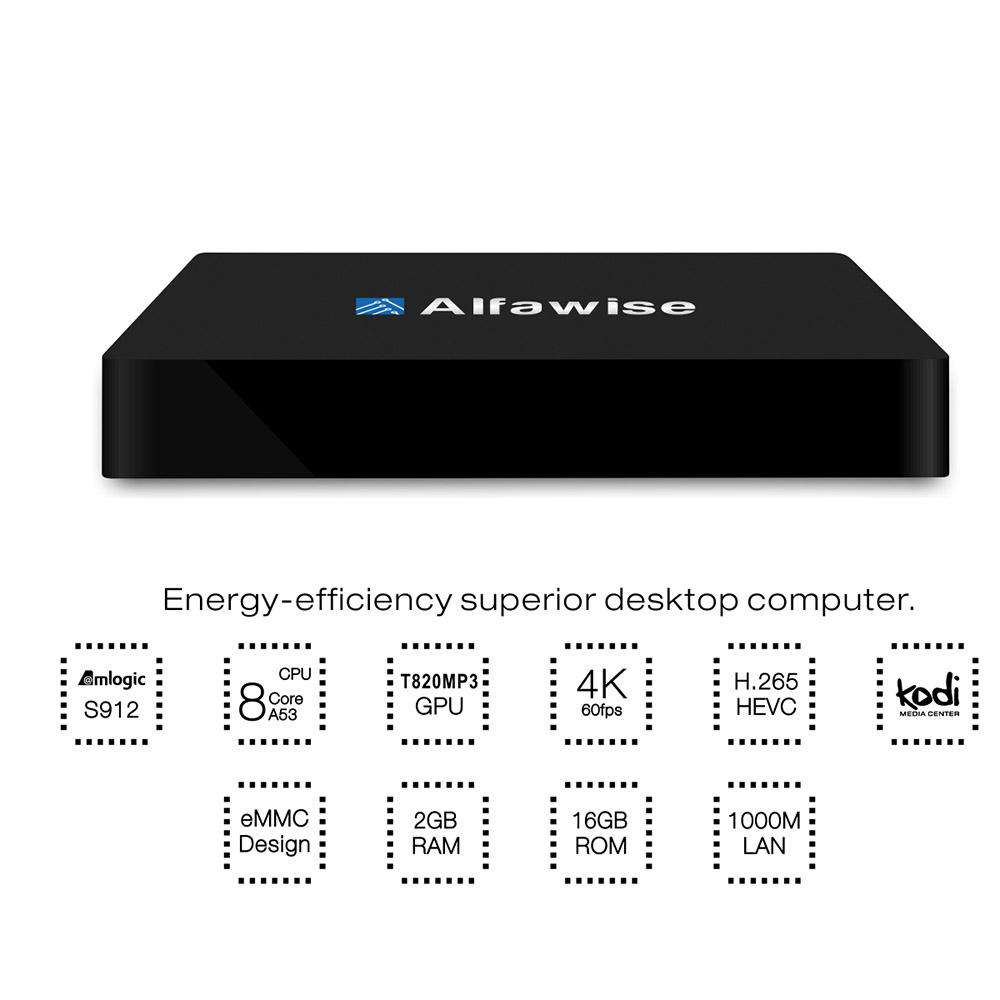 Alfawise S92 TV Box Android 6.0 OS Amlogic S912