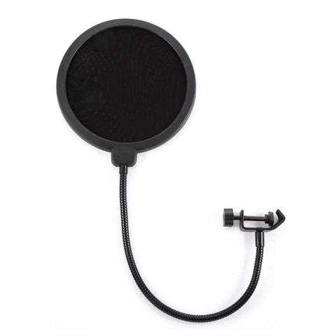 MPF - 6 6-Inch Clamp On Microphone Pop Filter Bilayer Recording Spray Guard - 24/7 bestdeals