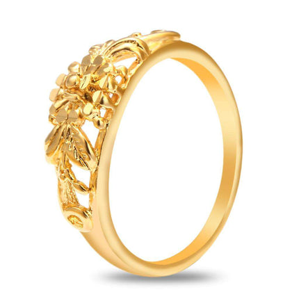 18K Electroplate Gold Color Flower Ring for Women - 24/7 bestdeals