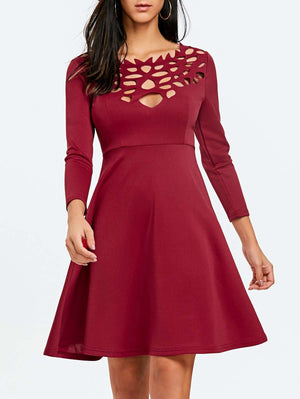 Cut Out Mini Party Dress - 24/7 bestdeals