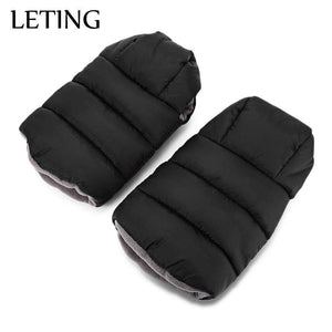 LETING Baby Stroller Warmer Water Resistance Plush Pushchair Pram Cart Gloves - 24/7 bestdeals