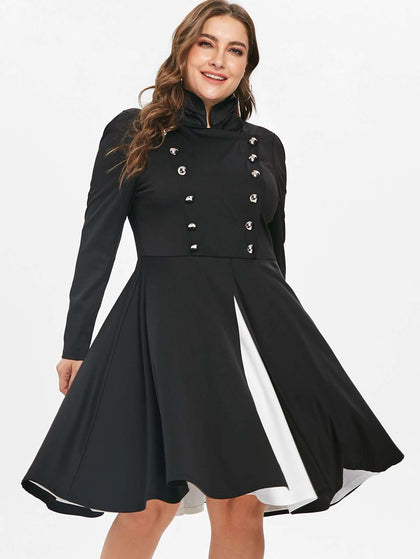 Plus Size Halloween Fit and Flare Dress - 24/7 bestdeals