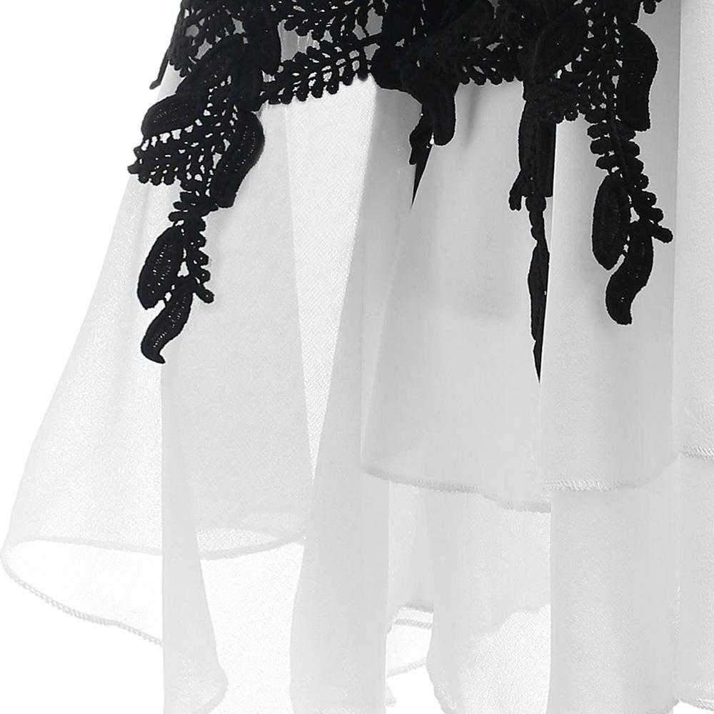 Plus Size Applique Layered Blouse