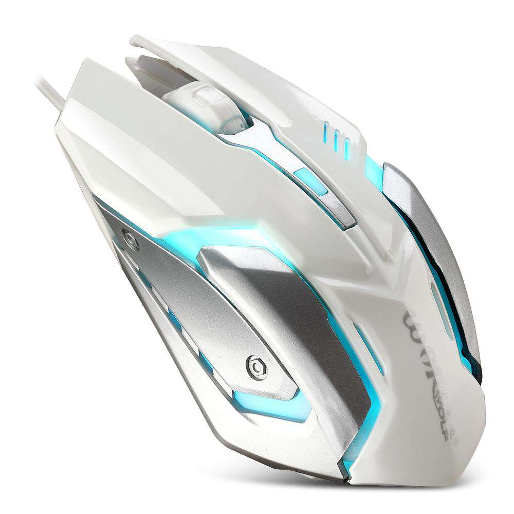 Warwolf M - 02 Wired Gaming Mouse Adjustable DPI Colorful LED Light