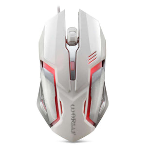Warwolf M - 02 Wired Gaming Mouse Adjustable DPI Colorful LED Light - 24/7 bestdeals