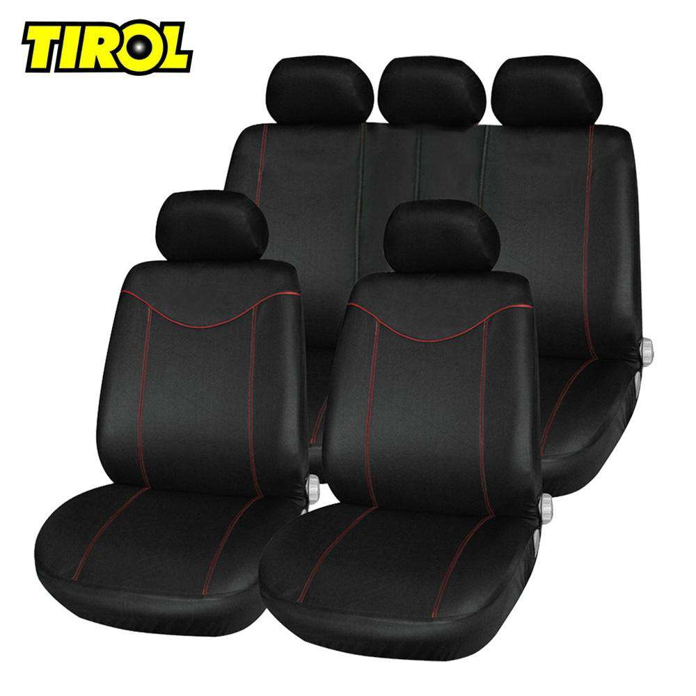 TIROL T21638 11pcs Car Low-back Seat Cover Set Anti-Dust Auto Cushion Protector