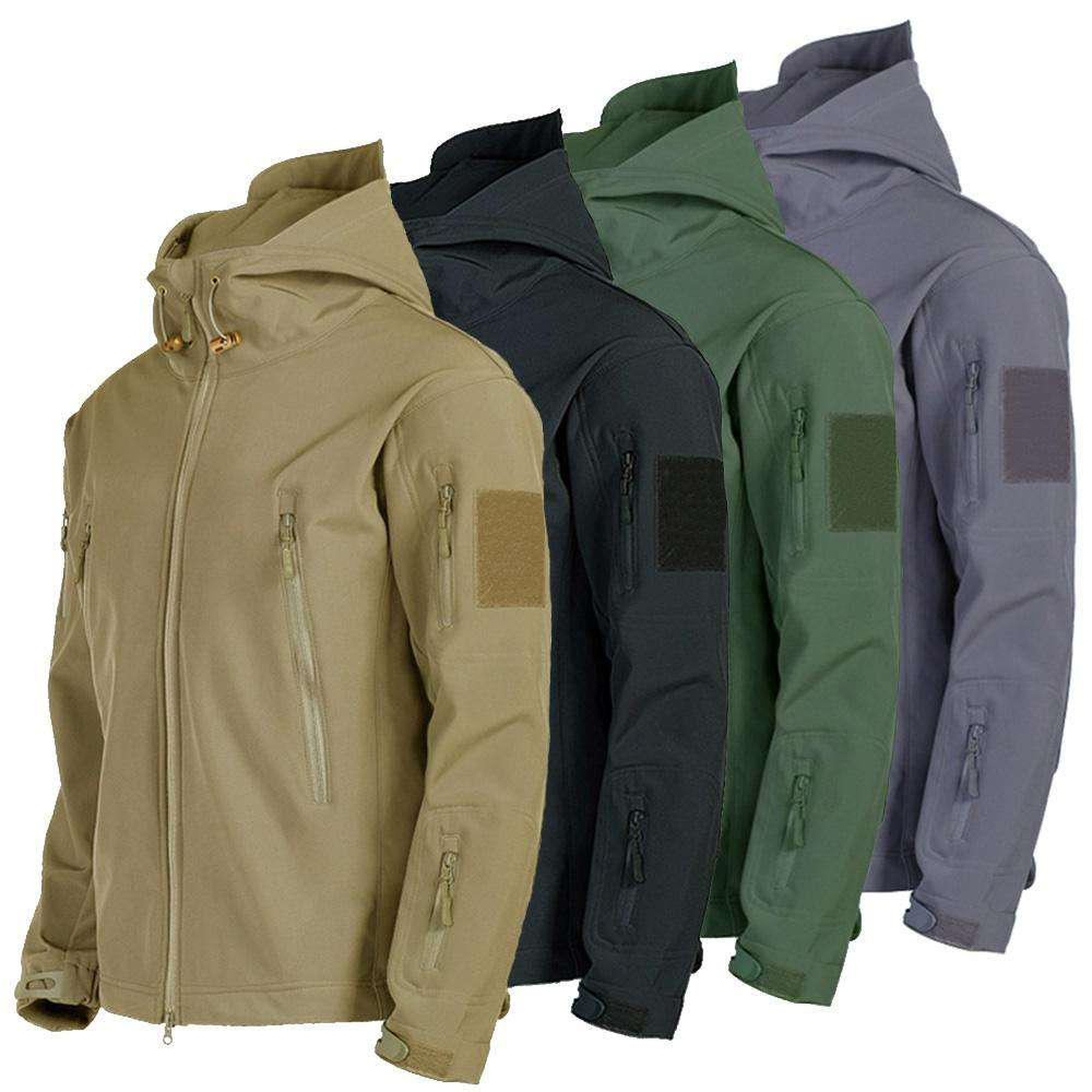 Military  Waterproof Warm Tactical Fleece Soft Shell Men Jacket Hunting Coat Army Windbreaker Outdoor