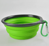 Folded silicone pet dog bowl
