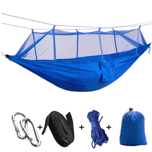 Outdoor parachute cloth hammock double with mosquito net light portable army green insect-proof camping camping aerial tent
