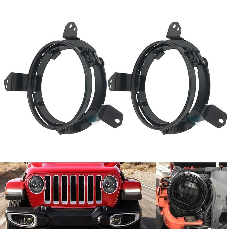 2018-2020 Jeep Wrangler JL, JLU & Gladiator 7 Inch LED Headlight Mounting Brackets