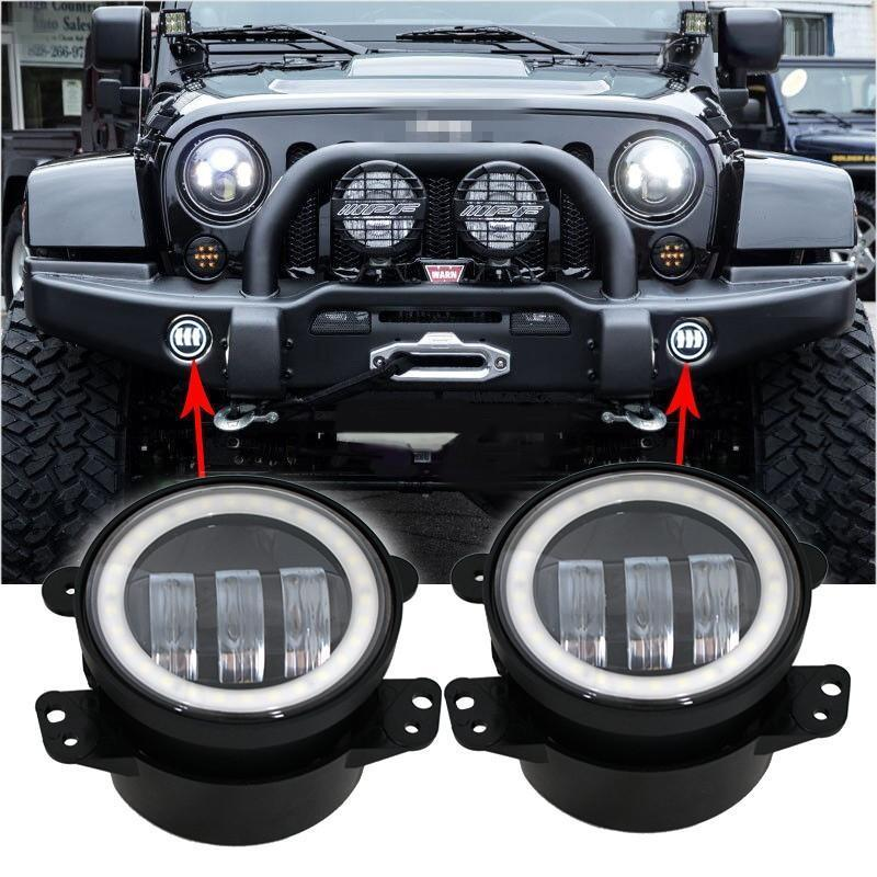 Extreme I Halo Fog Lights - 07-18 Jeep Wrangler LED Halo Fog Lights JK & JK Unlimited