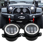 Extreme I Halo Fog Lights - 07-18 Jeep Wrangler LED Halo Fog Lights JK & JK Unlimited-MJ's Offroad