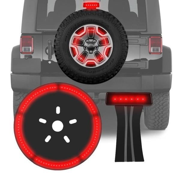 Value Pack III (Fierce I + Fierce II) - 07-18 Jeep Wrangler JK & JKU Brake Light & Spare Tire LED Lights