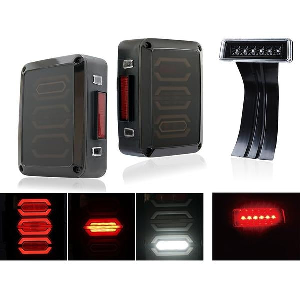 Value Pack II (Ultimate II + Fierce I) - 07-18 Jeep Wrangler LED Tail Lights & Break Lights JK & JK Unlimited