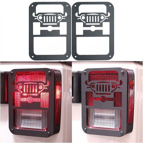 Rugged II 07-18 Jeep Wrangler Tail Light Guard Covers JK & JK Unlimited