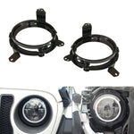 2018-2020 Jeep Wrangler JL, JLU & Gladiator 7 Inch LED Headlight Mounting Brackets-MJ's Offroad