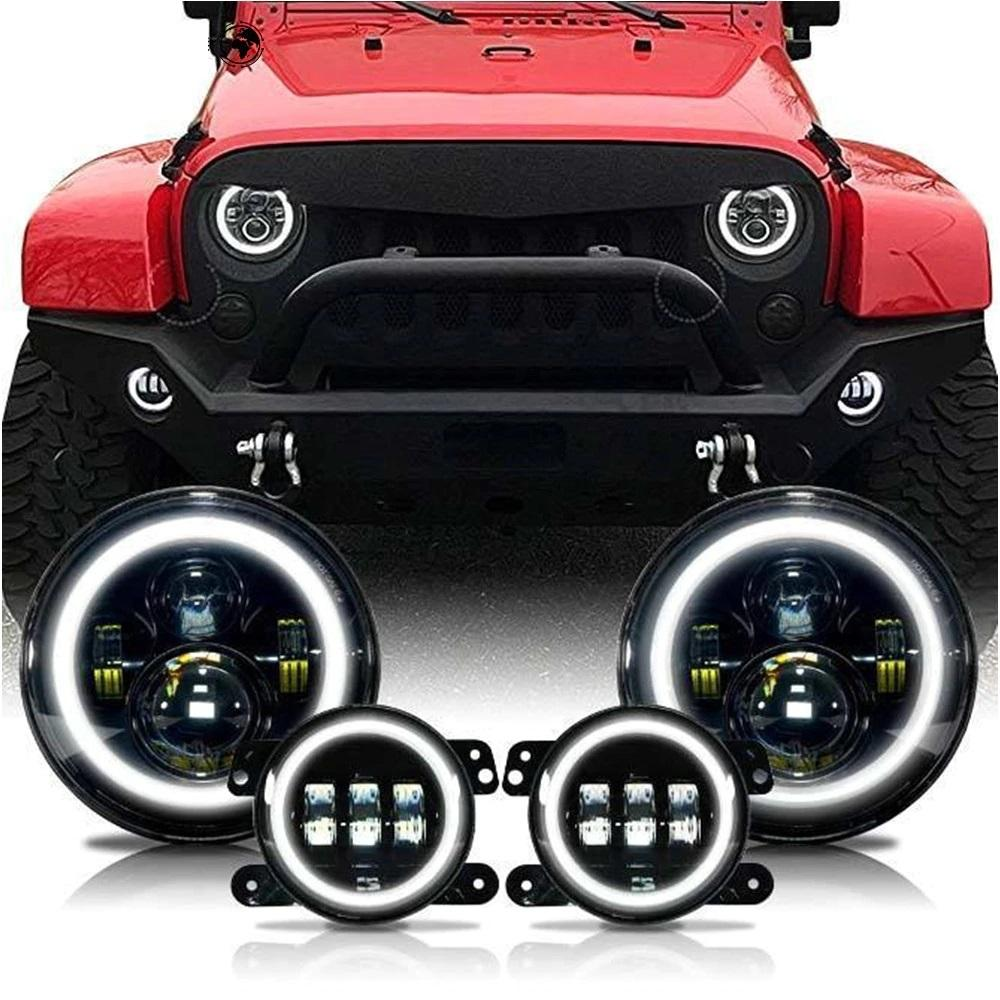 Rough II Headlights & Extreme I Fog Lights Value Pack I - 07-18 Jeep Wrangler JK & JKU LED Headlight and Fog Lights