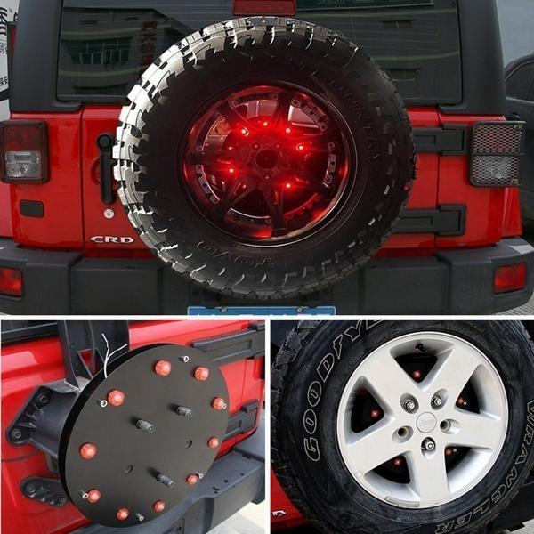 "Fierce III 12.5"" 07-18 Jeep Wrangler JK & JKU Spare Tire Light 