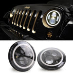 Rough II 97-18 Jeep Wrangler Halo Headlights TJ, LJ, JK, JKU