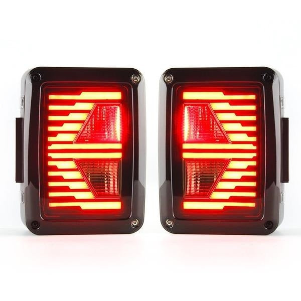 Ultimate V 07-18 Jeep Wrangler LED Tail Lights with Arrow Turn Signal JK & JK Unlimited-MJ's Offroad