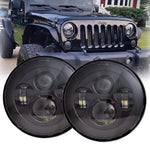 Rough I 97-18 Jeep Wrangler LED Headlights TJ, LJ, JK, JKU