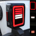 Ultimate VI 07-18 Jeep Wrangler JK LED Tail Lights with Bars JK & JK Unlimited