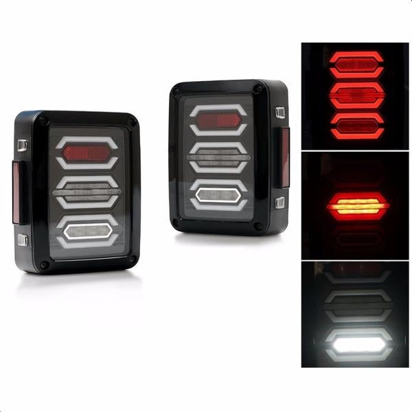 Ultimate II 07-18 Jeep Wrangler LED Tail Lights JK & JK Unlimited-MJ's Offroad
