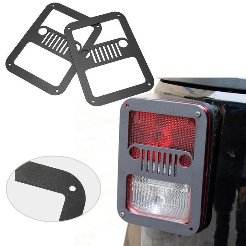 Rugged I 07-18 Jeep Wrangler Tail Light Guard Covers JK & JK Unlimited