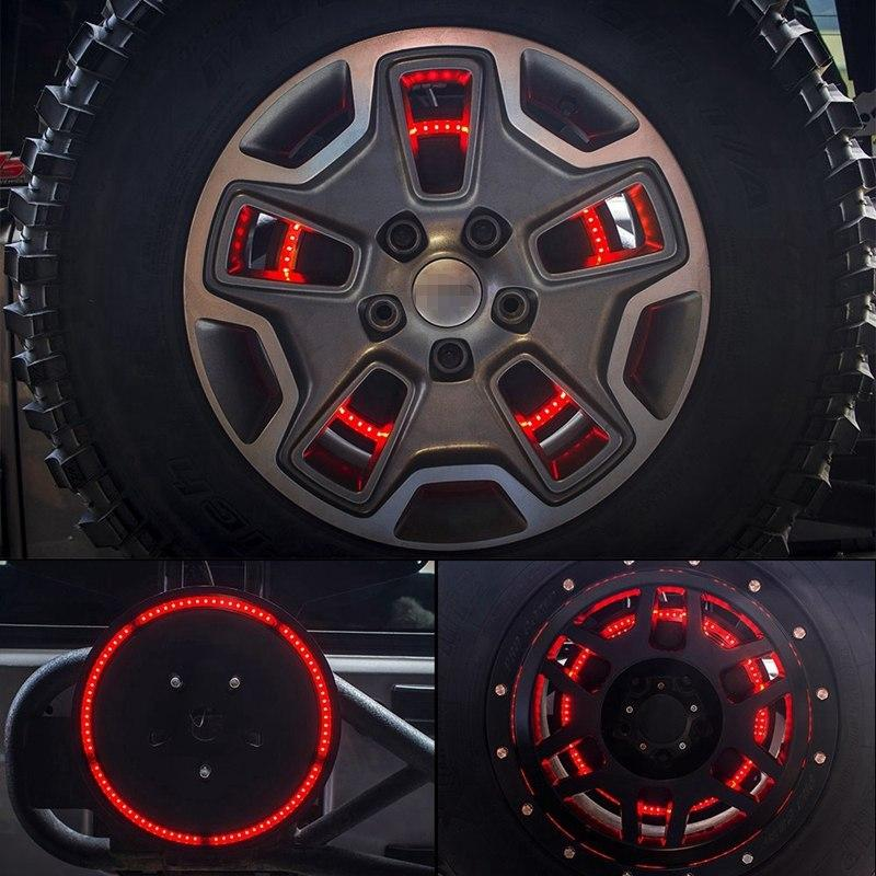 "Fierce II 14"" 07-18 Jeep Wrangler JK & JKU Spare Tire Light 