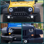 Rough II Headlights & Extreme I Fog Lights Value Pack I - 07-18 Jeep Wrangler JK & JKU LED Headlight and Fog Lights-MJ's Offroad