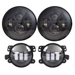 Rough I Headlights & Extreme IV Fog Lights Value Pack - 07-18 Jeep Wrangler JK & JKU LED Headlight and Fog Lights