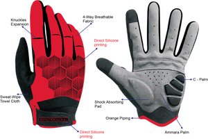 Prototapebrand Dark Red Gloves £23.99