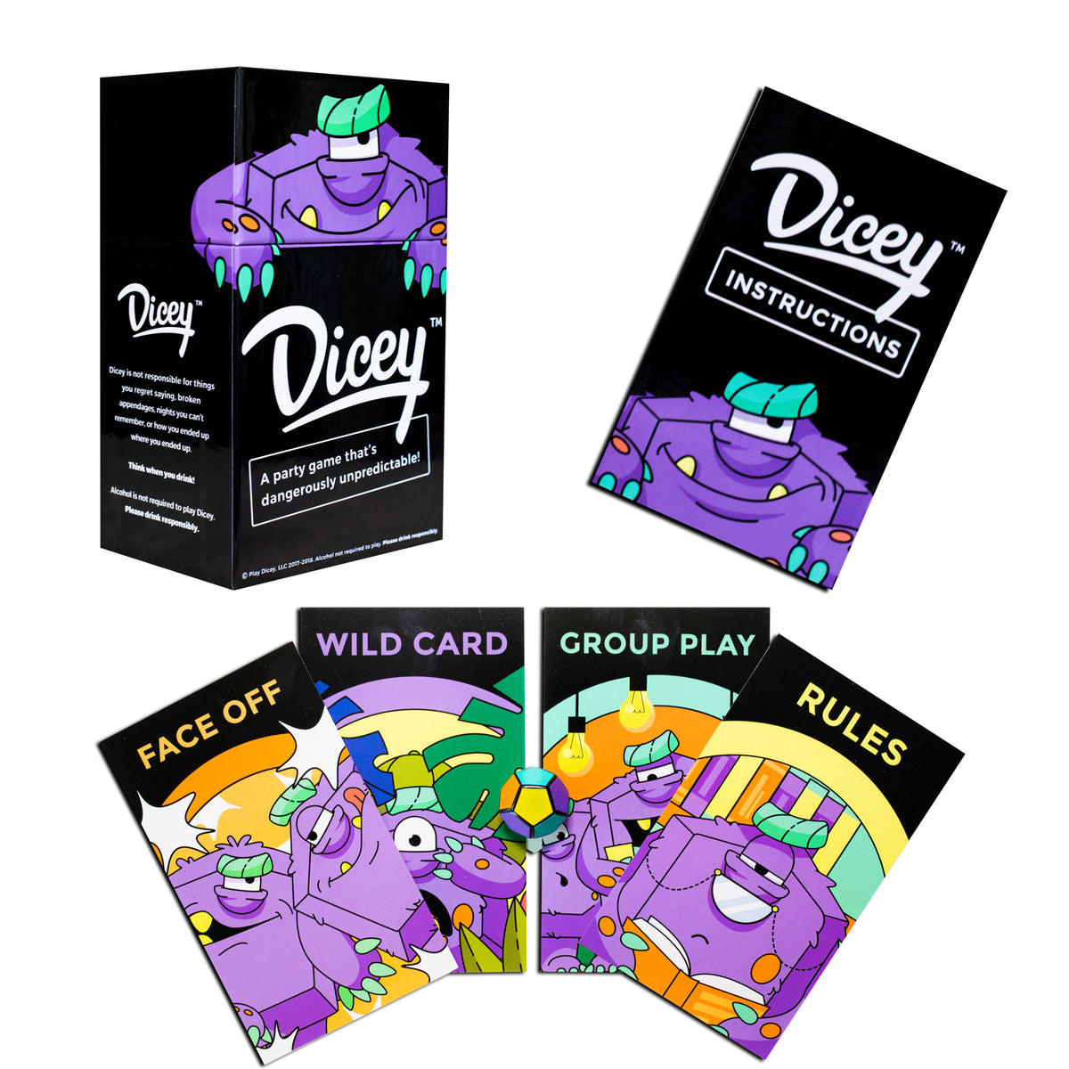 DICEY - Dicey Drinking Game - Dicey New Drinking Game - The New Standard For Drinking Games And Party Games - Barstool Sports Big Brain Finalist