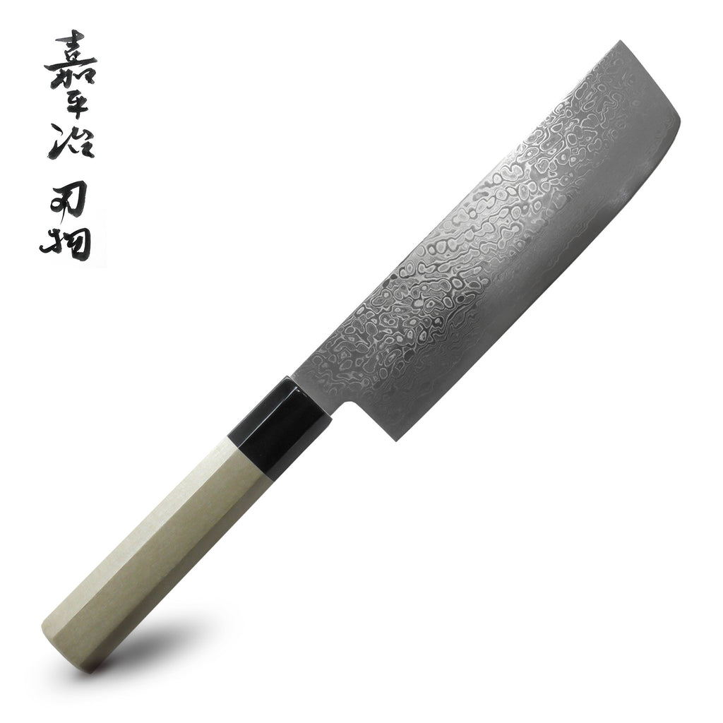 Tekken Yoshimasa ZA18 Damascus 69 Layer Nakiri Japanese Knife
