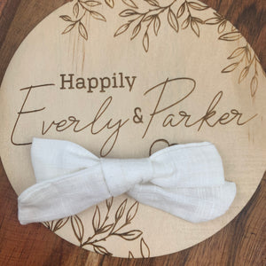Linen Bow Clips