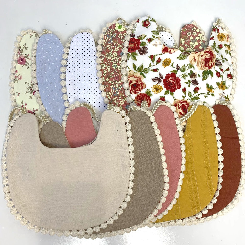 Blossom Reversible Cotton Bibs