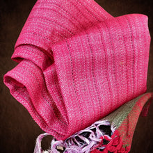 Load image into Gallery viewer, Handwoven Silk - Eri Spun Stoles _Pink